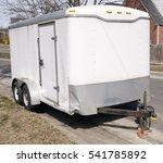four wheel white utility... | Shutterstock . vector #541785892