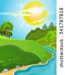 summer landscape. landscape on... | Shutterstock .eps vector #541787818