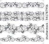 seamless floral border vector... | Shutterstock .eps vector #541787956