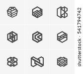 modern abstract vector logo or... | Shutterstock .eps vector #541794742