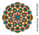 mandala. ethnic decorative... | Shutterstock .eps vector #541795102
