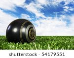 Close Up Of One Bowling Ball O...