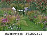 corner of a cottage garden with ...   Shutterstock . vector #541802626