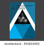 annual business report cover... | Shutterstock .eps vector #541814452