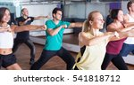 young positive  people dancing  ... | Shutterstock . vector #541818712