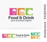 food   drink  fast food  fruit  ... | Shutterstock .eps vector #541824442