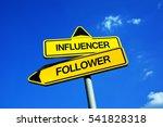 influencer vs follower  ... | Shutterstock . vector #541828318