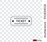 ticket icon. vector... | Shutterstock .eps vector #541834018