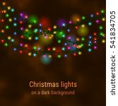 christmas house lights on a...   Shutterstock .eps vector #541834705