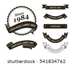 Stock vector vintage label vector set 541834762