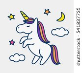 magic cute unicorn  stars ... | Shutterstock .eps vector #541837735