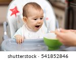 mother feeding her baby. baby's ... | Shutterstock . vector #541852846