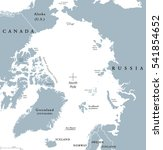 arctic region political map....   Shutterstock .eps vector #541854652