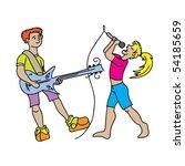 music singer children   Shutterstock .eps vector #54185659