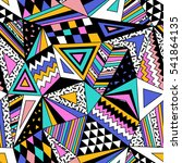colorful vector seamless... | Shutterstock .eps vector #541864135