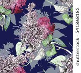 seamless pattern with floral... | Shutterstock . vector #541868182