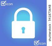 lock icon. user login or...