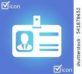 identification card icon....