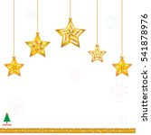 christmas gold star with... | Shutterstock .eps vector #541878976