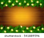 vector holiday wood texture... | Shutterstock .eps vector #541889596