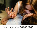young sexy couple in love lying ... | Shutterstock . vector #541892245
