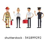 firefighter  policeman and... | Shutterstock .eps vector #541899292