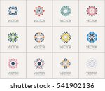 geometric logo template set.... | Shutterstock .eps vector #541902136