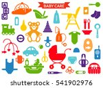 baby care items silhouettes  ... | Shutterstock .eps vector #541902976