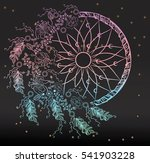 colorfull dreamcatcher with... | Shutterstock .eps vector #541903228