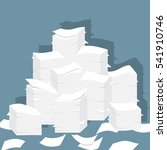 paper pile flat illustration.... | Shutterstock .eps vector #541910746