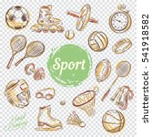 sport sketch equipment. drawing ... | Shutterstock .eps vector #541918582