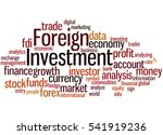 foreign investment  word cloud... | Shutterstock . vector #541919236