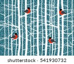 the falling snow and the winter ... | Shutterstock .eps vector #541930732