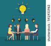 business man meeting at a big... | Shutterstock .eps vector #541931962