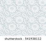 white floral lace vintage... | Shutterstock .eps vector #541938112
