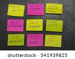 new year goals or resolutions   ... | Shutterstock . vector #541939825