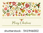 vector merry christmas design.... | Shutterstock .eps vector #541946002