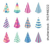 party different hats collection ... | Shutterstock .eps vector #541948222