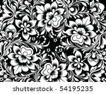 vector illustration of floral... | Shutterstock .eps vector #54195235