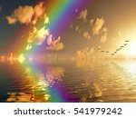 beautiful sunset with dramatic...   Shutterstock . vector #541979242