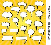 set of comic bubbles hand drawn | Shutterstock .eps vector #54198868