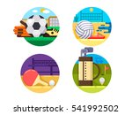 collection of icons sports ball ... | Shutterstock .eps vector #541992502