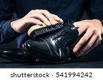 men to care for leather shoes | Shutterstock . vector #541994242