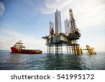 supply vessel alongside... | Shutterstock . vector #541995172