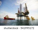 supply vessel alongside... | Shutterstock . vector #541995172
