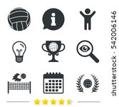 volleyball and net icons.... | Shutterstock . vector #542006146
