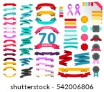 colourful vintage ribbon vector ... | Shutterstock .eps vector #542006806
