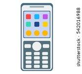 telephones vector icon. | Shutterstock .eps vector #542016988