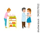 young mother vector characters. | Shutterstock .eps vector #542017012