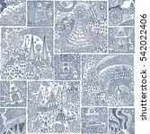 seamless patchwork pattern from ... | Shutterstock . vector #542022406